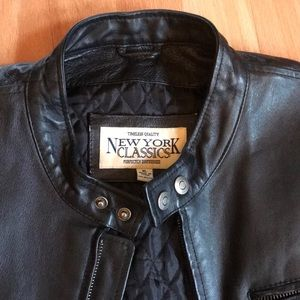 """New York Classics"" Leather Sports Jacket"